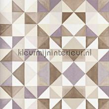 Bold cubism brown wallpaper papier peint Origin Mariska Meijers 339-346909