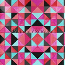 Bold cubism red wallpaper papier peint Origin Mariska Meijers 339-346911