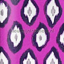 Painted ikat pink wallpaper papier peint Origin Mariska Meijers 339-346918