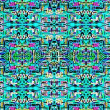 Jungle fever carre turquoise wallprint papier peint Origin Mariska Meijers 339-356901