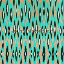 Coco ikat turquoise wallpaper papier peint Origin Mariska Meijers 339-356902