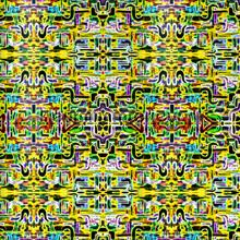 Jungle fever carre yellow wallprint papier peint Origin Mariska Meijers 339-356904