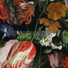 Stilleven met bloemendessin zwart papier peint Eijffinger Masterpiece 358000