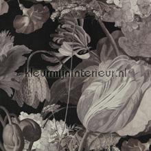 Stilleven met bloemendessin grijstinten papier peint Eijffinger Masterpiece 358001