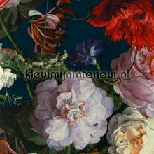Stilleven met bloemendessin turquoise carta da parati Eijffinger Masterpiece 358002