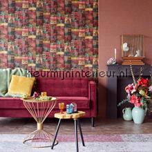 Kelim tapijtlook bont behang Eijffinger Modern Abstract
