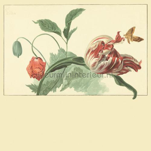 Tulip and Poppy cream photomural 358118 Masterpiece Eijffinger