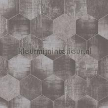 Honingraat beton tapeten AS Creation Materials 363302