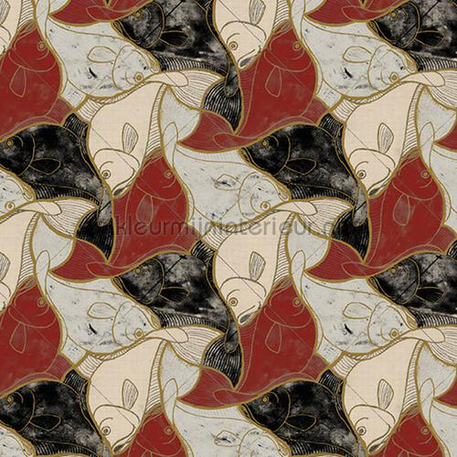 Escher fish wallpaper behang 23100 MC Escher Arte