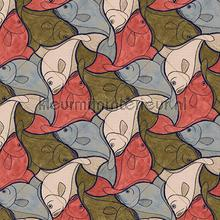 Escher fish wallpaper carta da parati Arte MC Escher 23103