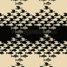 Escher sky and water wallpaper carta da parati Arte MC Escher 23120
