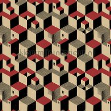Escher Cube houses wallpaper carta da parati Arte MC Escher 23150
