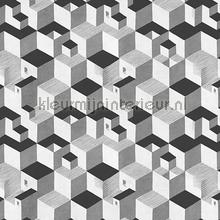 Escher Cube houses wallpaper carta da parati Arte MC Escher 23151