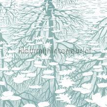 Panel Three worlds photomural Arte MC Escher 23180