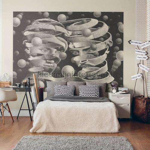 Panel Bond of union behang 23186 MC Escher Arte