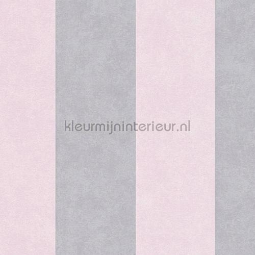 Streep 13 cm lichtroze grijs tapeten 329903 Memory 3 AS Creation