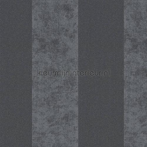 Streep 13 cm antraciet donkergrijs glitt tapeten 953734 Memory 3 AS Creation