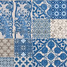 Tegel patchwork helder blauwtinten tapeten AS Creation Metropolitan Stories 36923-1