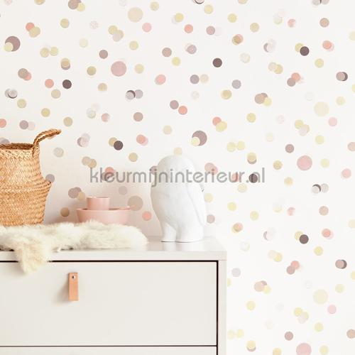 Confetti regen papel pintado 399002 niñas Eijffinger