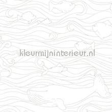 Golvende wal vissen wallcovering Eijffinger urban