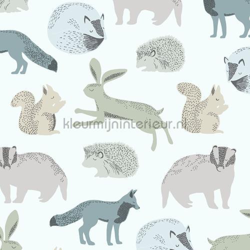 Das konijn eekhoorn egel motief papel pintado 399051 Bebés - Niños Eijffinger