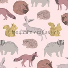 Das konijn eekhoorn egel motief papel pintado 399052 niñas Eijffinger