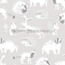 Das konijn eekhoorn egel motief carta da parati Eijffinger Wallpaper creations