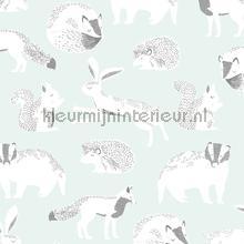 Das konijn eekhoorn egel motief papier peint Eijffinger Wallpaper creations