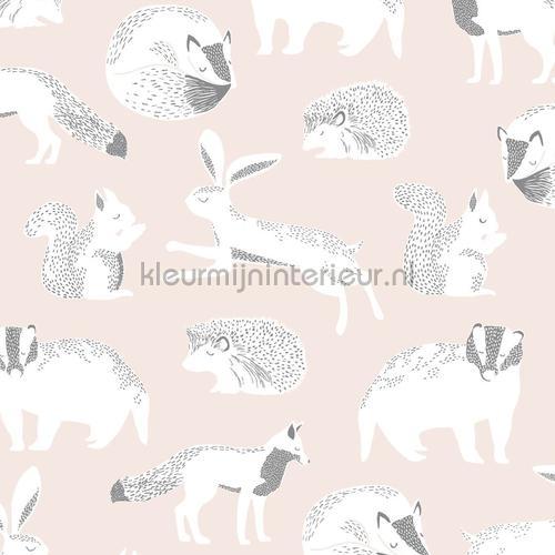 Das konijn eekhoorn egel motief papel pintado 399062 niñas Eijffinger