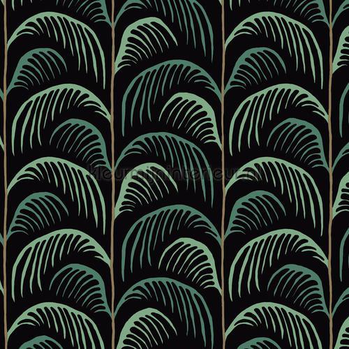 Gebogen palmblad ritmiek papel pintado 399073 niñas Eijffinger