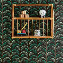 Gebogen palmblad ritmiek papel pintado Eijffinger adolescente