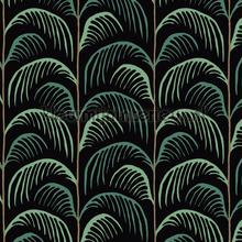 Gebogen palmblad ritmiek papier peint Eijffinger spécial