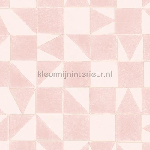 gerasterde blokjes en driekhoekjes papel pintado 399091 niñas Eijffinger