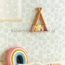 Gerasterde blokjes en driekhoekjes papier peint Eijffinger Wallpaper creations