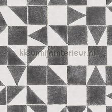 Gerasterde blokjes en driekhoekjes carta da parati Eijffinger Wallpaper creations