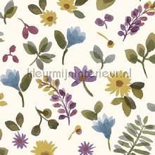 Takken en bloemen kleurrijk papier peint Behang Expresse Mix and Match JW3706