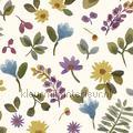 Takken en bloemen kleurrijk Mix and Match behang expresse