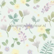 Takken en bloemen pastel papier peint Behang Expresse Mix and Match JW3707