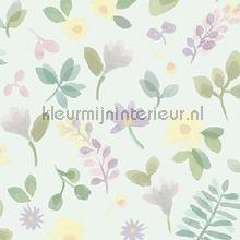 Takken en bloemen pastel tapet Behang Expresse Mix and Match JW3707