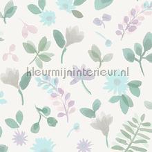 Takken en bloemen pastelroze papier peint Behang Expresse Mix and Match JW3709