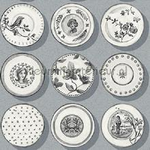 Poreleinen bordjes grijs papier peint Behang Expresse Mix and Match JW3713