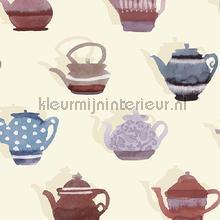 Pottenverzameling rood behang Behang Expresse Mix and Match JW3722