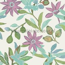 Planten en kolibries pastel tapet Behang Expresse Mix and Match JW3737