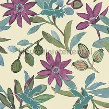 Planten en kolibries stevig pastel behang Behang Expresse Mix and Match JW3738
