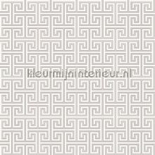 Grieks oneindig ritme lichtgrijs papier peint Behang Expresse Mix and Match JW3753