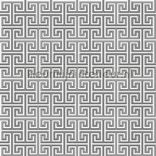 Grieks oneindig ritme grijs papier peint Behang Expresse Mix and Match JW3756