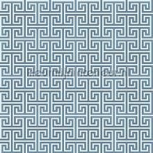 Grieks oneindig ritme blauw papier peint Behang Expresse Mix and Match JW3757