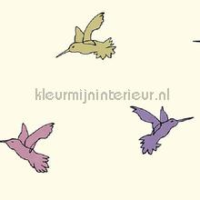 Vliegende kolibri krachtig pastel papier peint Behang Expresse Mix and Match JW3769