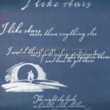 Poetry from Snufkin wallcovering Sandudd Moomin 5162-1