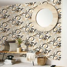 Exotic leaves wallcovering Caselio Vintage- Old wallpaper
